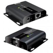 Techly Extender HDMI HDBitT PoE Full HD con IR su Cavo Cat.5e/6 fino a 120m