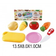 Набор овощей 4 шт для резки с посудой, пакет