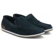 Clarks MEDLY SUN NAVY SUEDE loafers For Men(Blue)