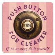 tinnen magneet - push button for cleaner