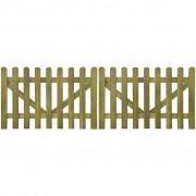 vidaXL Tuinhek poort 2 stuks 300 x 100 cm geïmpregneerd hout
