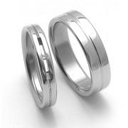 Snubní ocelové prsteny ZERO Collection rz04026+rz86118
