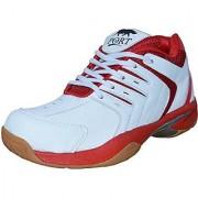Port Men's Red Riedo Editon Pu Badminton Shoes