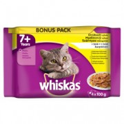 WHISKAS hrana za mačku, Senior Izbor živina 4x100g 520259