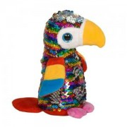 Детска плюшена играчка - Папагал с пайети, 14см., 391095