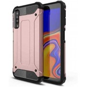Teleplus Samsung Galaxy A70 Double Layer Tank Cover Case Rose Gold hoesje