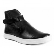 Men's Black Slip On Boots