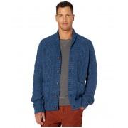 JCrew Rugged Cotton Cable-Knit Shawl-Collar Cardigan Sweater Heather Nightfall