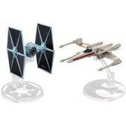 Jucarie Hot Wheels Star Wars Starships Tie Fighter Vs. X-Wing Fighter Set Of 2