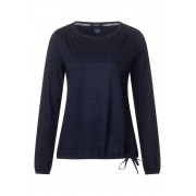 Shirt met strepenstructuur - deep blue