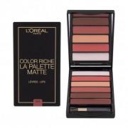 L´Oréal Paris Color Riche La Palette Matte 6 g paletka rúžov pre ženy Nude