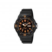 Reloj Casio MRW200 MRW200H-4BV Fechador - Negro / Naranja