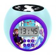 Ceas desteptator pentru copii Lexibook RL977FZ-50 Disney Frozen 2 Anna Elsa cu proiectie, alarma, lumina de noapte si snooze