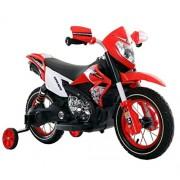 Saisha Toys Plastic Sports Bike Air Wheels 12V Battery Operated Remote Control Bike Red