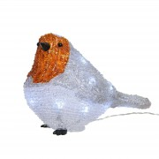 Battery-powered LED luminous figure Robin