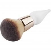 Calabaza Forma Mango De Madera Gran Cabeza Redonda Buffer Foundation Powder Makeup Brushes Plump Round Brush Makeup BB Cream Herramientas