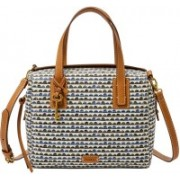 Fossil Women Casual Blue Polyester Satchel