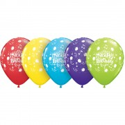 "Baloane latex 11"" inscriptionate Happy Birthday To You Balloons Asortate, Qualatex 10390"