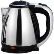 Mezire Cordless Stainless Steel Tea Heater with Auto Shut Off & Boil Dry Protection Electric Kettle (kettle RC-1009) Electric Kettle(1.8 L, Silver)
