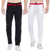 Cliths Stylish Joggers For Men - Pack of 2 Mens Yoga Pants For Gym (White Red Red Black)