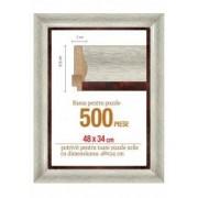 Rama puzzle 500 piese - alb gri - grosime 6.5 h 3- 48 x 34 cm