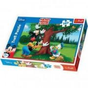 Puzzle Mickey Donald si Pluto la cules de mere 160 pcs
