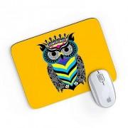 Mouse Pad A Arte da Coruja Amarelo 24x20