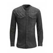 JACK & JONES Super Slim Fit Spijkerblouse Heren Zwart / BlackDenim / XXL