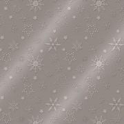 Lunchservet 33x33 pakje 20 st,Winter Flakes warm grey metallic