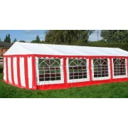 Classic Plus Partytent PVC 5x10x2 mtr in Wit-Rood