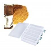 EH 12 Compartimiento dobles señuelos de pesca Sided Tackle Ganchos cebos caja de la caja de almacenamiento (transparente)