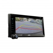 Autoestéreo JVC KW-V330BT 2-Din + Cámara De Reversa Bluetooth DVD