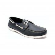 Zapato De Piel Top Sailer Modelo 101 Azul Marino