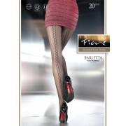 Fiore - Zig-zag pattern tights Barletta 20 DEN