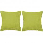 vidaXL 2 db velúr párna 45 x 45 cm zöld