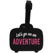 Shoppernation Luggage Tag Let's Go On An Adventure - Bag Travel Tags Luggage Tag(Multicolor)