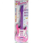 Pink Rock anad Roll Musical Instrument Guitar Toy for Girl 46 cm