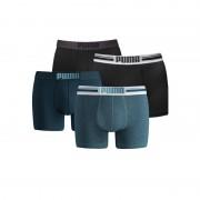 Puma boxershorts Placed Logo 4-pack Zwart/Denim-M