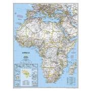 Wandkaart Afrika, politiek, 91 x 118 cm | National Geographic