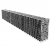vidaXL Габионна стена с капак, 600х50х100 см