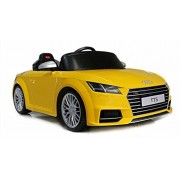 Swagspin Licensed Audi Tts Ride On Remote Control Car For Kids (Yellow)