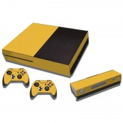 MicroSoft Carbon Fiber structuur Stickers voor Xbox One Game Console(geel)
