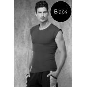 Doreanse Cropped Sleeves Short Sleeved T Shirt Black 2233