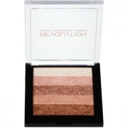 Makeup Revolution Shimmer Brick bronceador e iluminador 2 en 1 tono Radiant 7 g