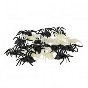 Arañas negras y fluorescente - 20 unidades