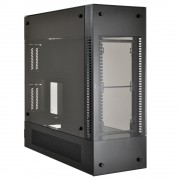 Lian-li PC-O12WX All Black ATX Case with 2x tempered glass panels, No PSU