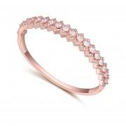 Brazalete Con Incrustaciones De Cristales, Ocean Heart OH15-407-Oro Rosa