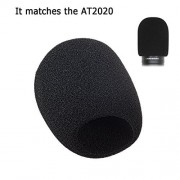 Acrux7 Acrux7 Foam Microphone Windscreen - Large Size Microphone Cover for Audio Technica AT2020 and other Large Mic (Black)