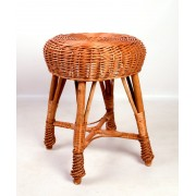 Proutěný taburet stolička