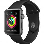 Smartwatch Watch 3 GPS Aluminiu Negru 42MM Si Curea Sport Neagra APPLE